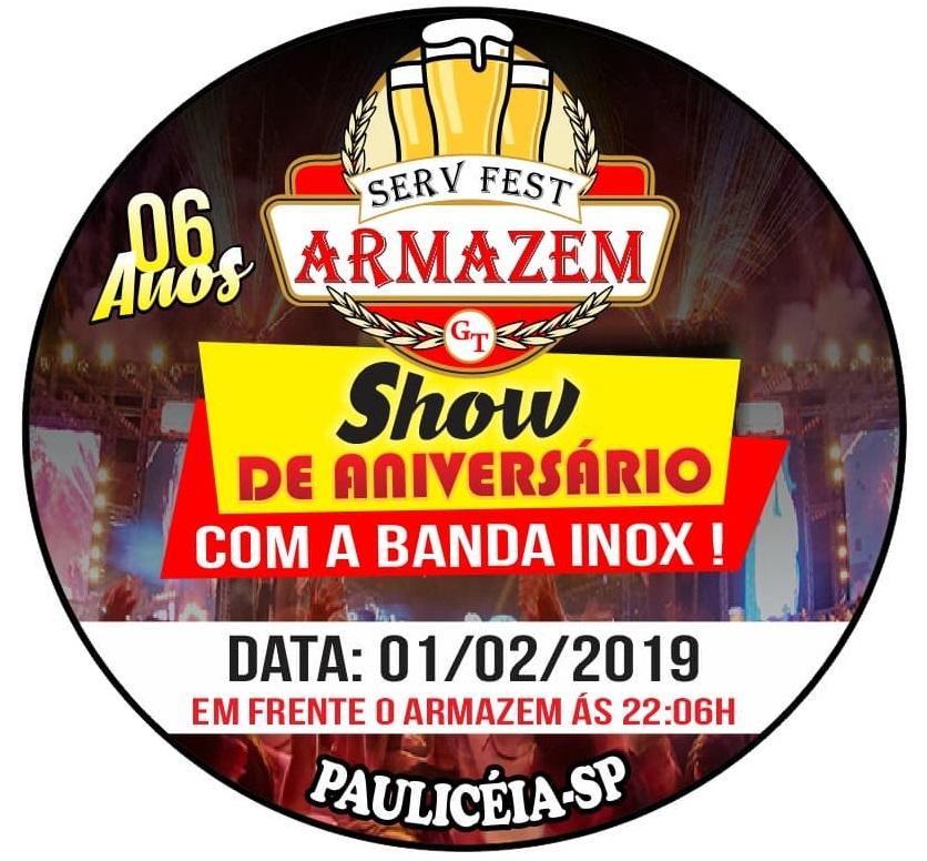 MAIS UM GRANDE EVENTO DO ARMAZÉM SERV FEST DE PAULICÉIA!!