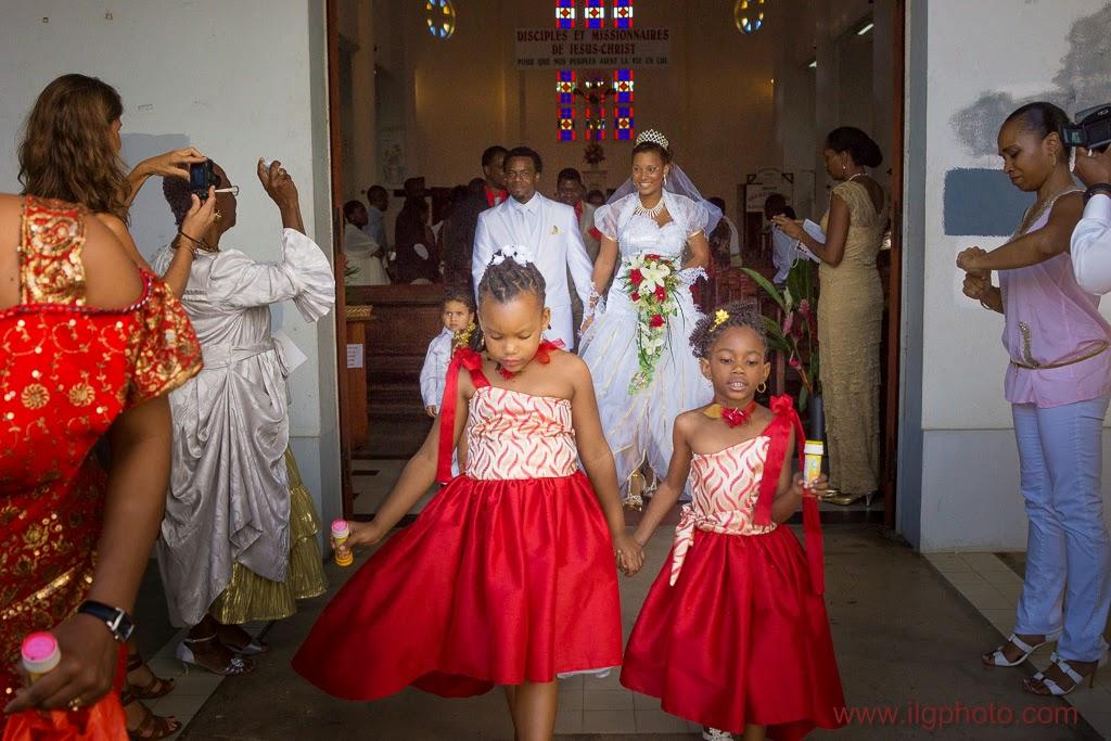 Mariage de Steffy et Manuel: sortie des enfants