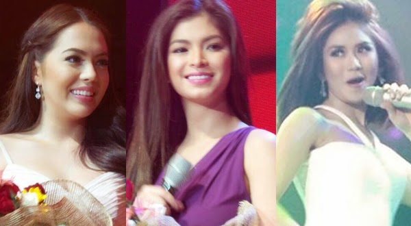 Sarah Geronimo, Julia Montes, and Angel Locsin in Avon NASCON