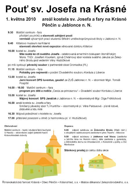 Pouť sv. Josefa na Krásné 2010 - plakát