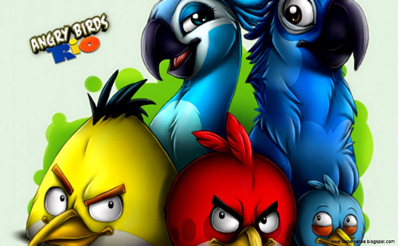 angry bird rio hd wallpaper | wallpapers area