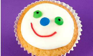 Happy Smiley Face Cupcake