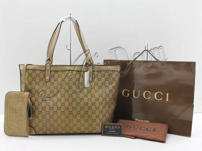 AvipD.com: Gucci Canvas Craft Medium Tote Gold