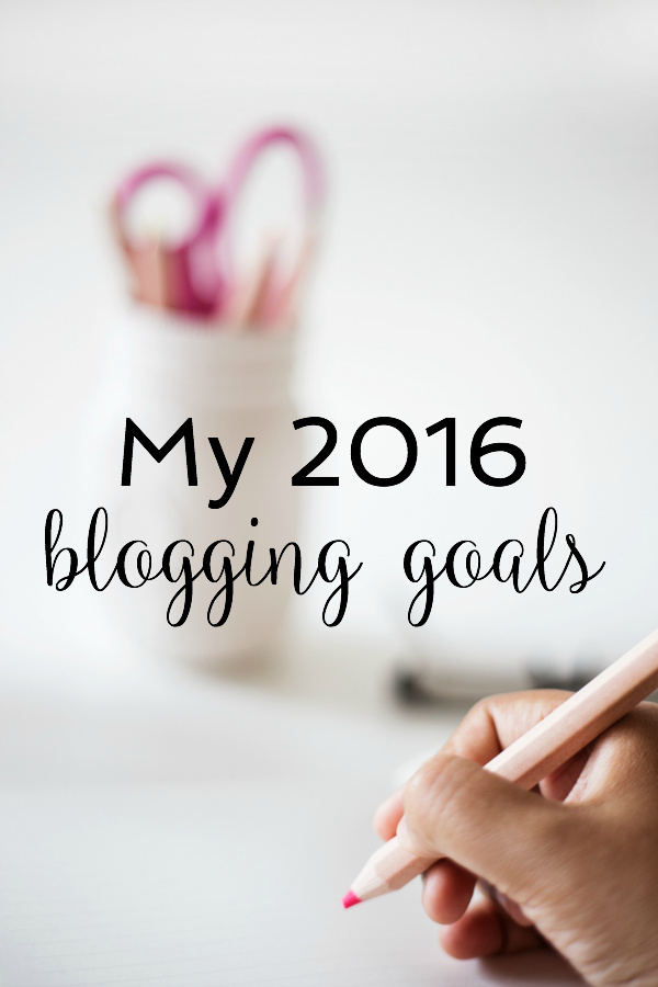 My 2016 Blogging Goals