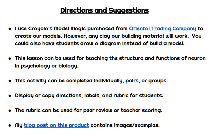 Activities for the psychology classroom build a neuron kovescence if you arent going to dry your neurons to save them the model magic can go in bags or containers for another project ccuart Image collections