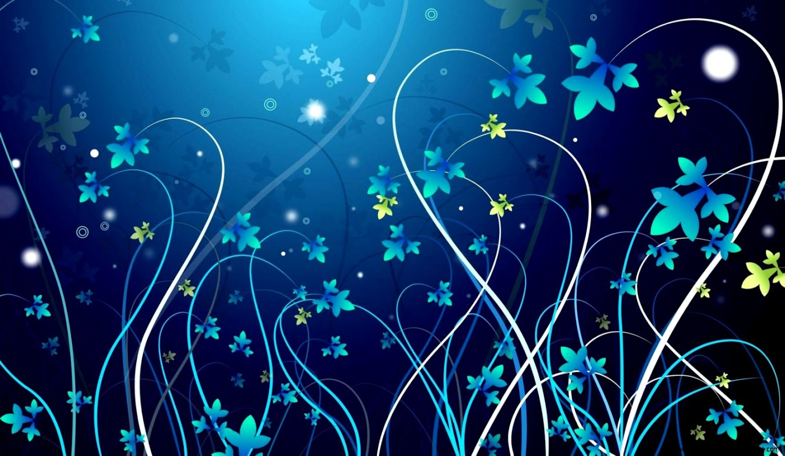 Vector Flower Blue Beautiful Wallpaper Wallpaper Gallery