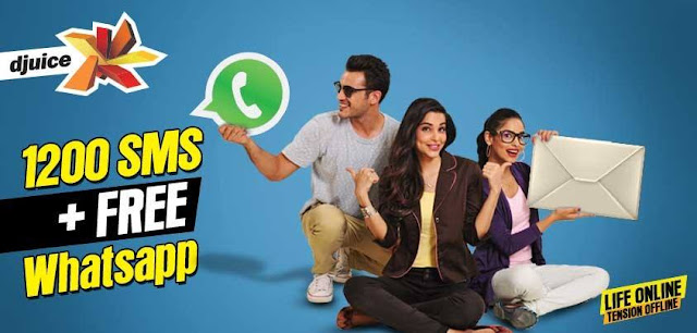 Telenor Djuice SMS and Free WhatsApp Offer