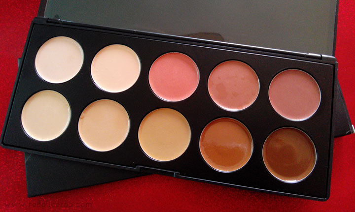 BH Cosmetics 10 Color Camouflage Concealer Palette, Review, Swatches, beauty blog, makeup blog, makeup review, beauty product, contour and highlight, contouring products, highlighting products, face scultpting, beauty, top beauty blog, red alice rao, redalicerao, pakistani beauty blog