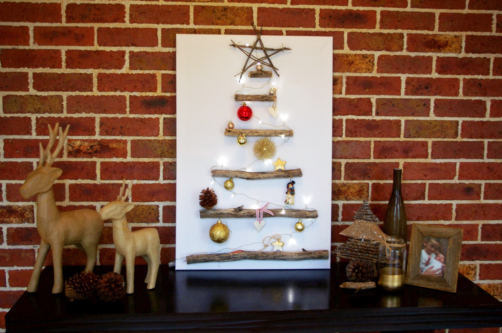 Canvas Christmas Tree Homemade Craft