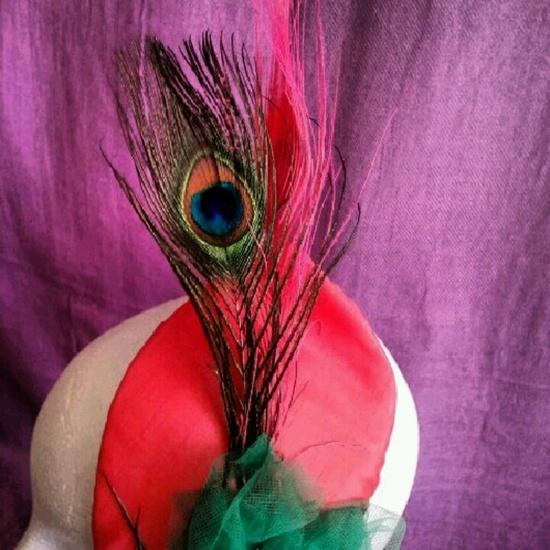 tocados, baratos, coral, verde, plumas, pavo real,