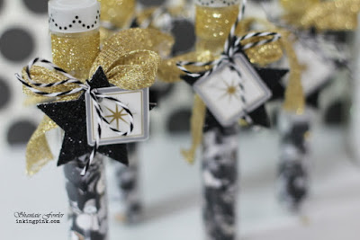 SRM Stickers Blog - New Year Confetti Tubes by Shantaie - #tubes #new-years #favors #stickers #twine #DIY