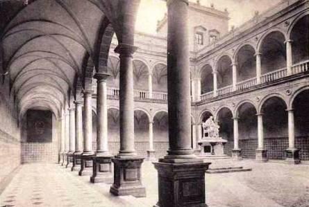 1000 Pesetas 1946 (Luis Vives) Colegio+patriarca+claustro