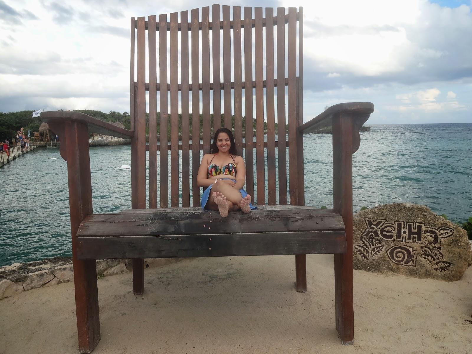 cadeira gigante - parque xel-ha - cancún - riviera maya