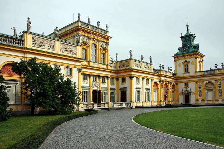 Pormenor da frente esquerda do palácio