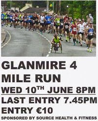 4 mile race nr Cork City...Wed 10th June