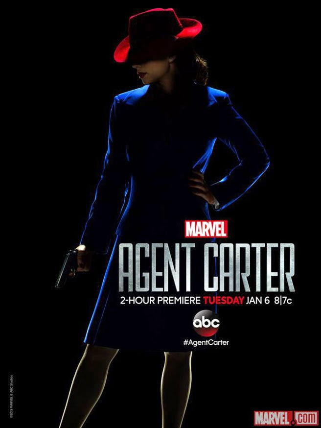 agent carter, peggy carter, capitan america, hayley atwell, poster, serie, el zorro con gafas