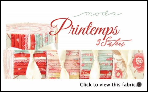 Moda PRINTEMPS Quilt Fabric by 3 Sisters for Moda Fabrics