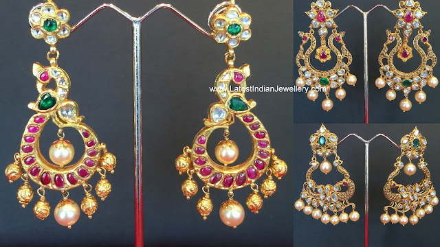 Elegant gold chandbalis