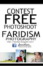 CONTEST : PHOTOSHOOT PERCUMA bernilai RM150 anjuran Faridism Photography