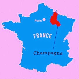 Champagne, France map