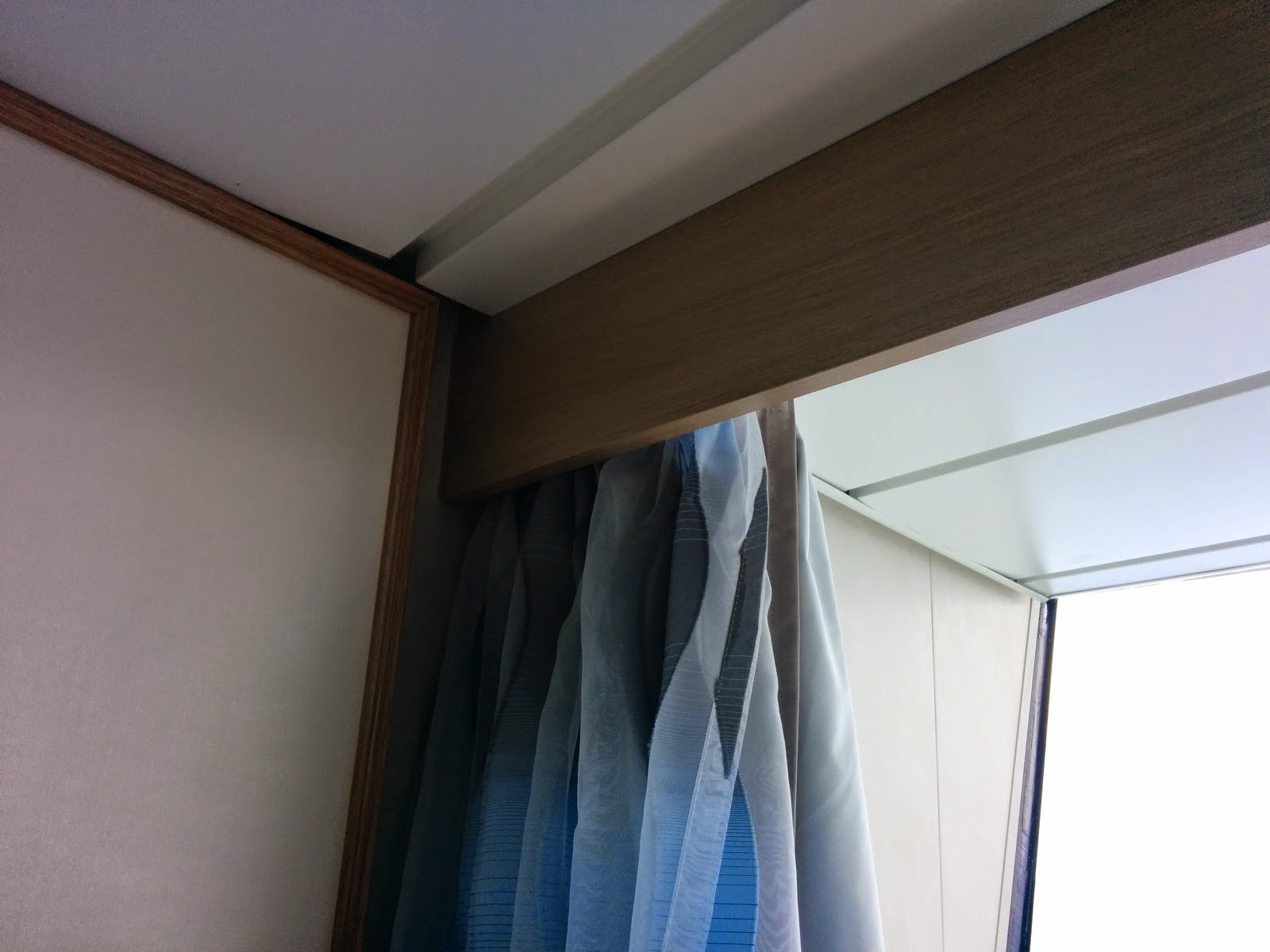 Ceiling track curtains
