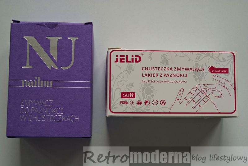 Chusteczki do zmywania lakieru Nailnu i Jelid