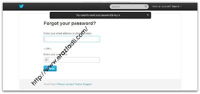 Kena RESET Password Twitter @erazfadli Berkali-Kali
