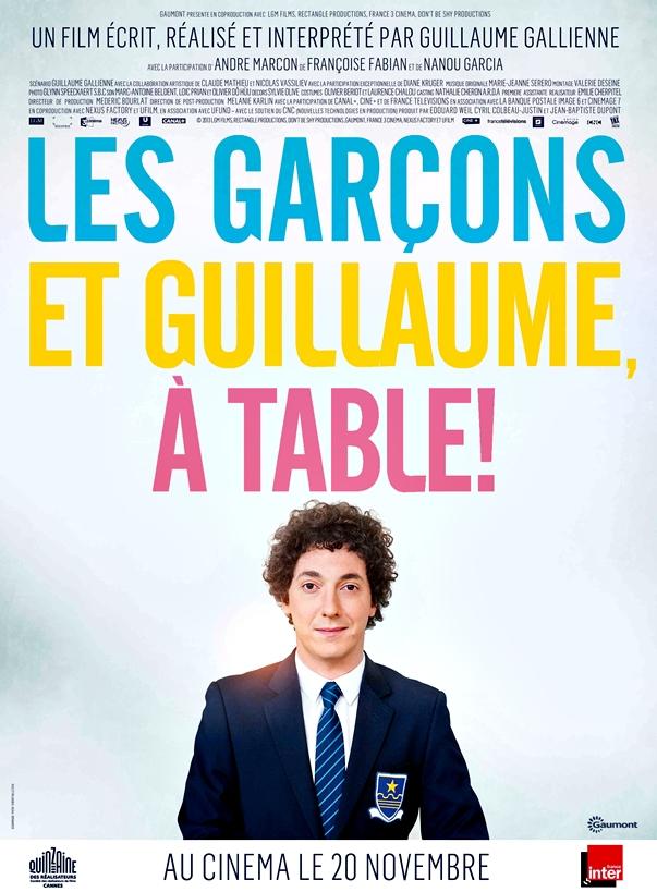 Guillaume y los chicos, ¡a la mesa! póster francés
