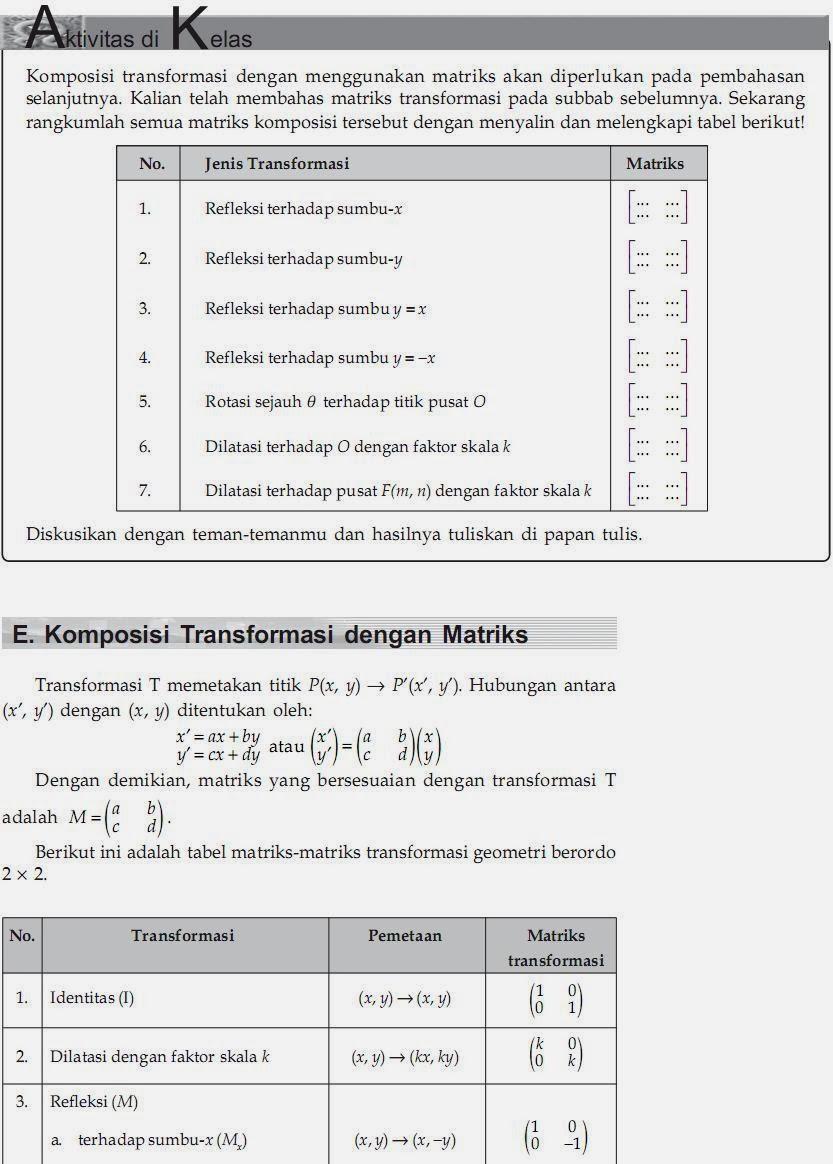 Matematika Di Sma Transformasi Geometri Dilatasi Diperbesar Diperkecil Dan Dengan Matriks