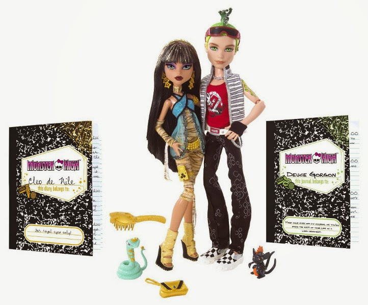 JUGUETES - MONSTER HIGH  Cleo De Nile & Deuce Gorgon | Pack 2 Muñecas  Producto Oficial - Serie 1 | Mattel N2854 | A partir de 6 años