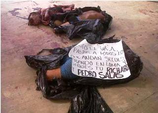 Fotos de los descuartizados en Jose Azueta Veracruz