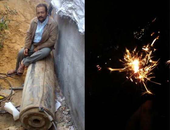 During last summer's murder spree in Gaza, Gazans had to deal with Israel's heavy ordinance, while Israelis faced Hamas rockets that provided little more than a light show, (Right Photo by philosophygeek)