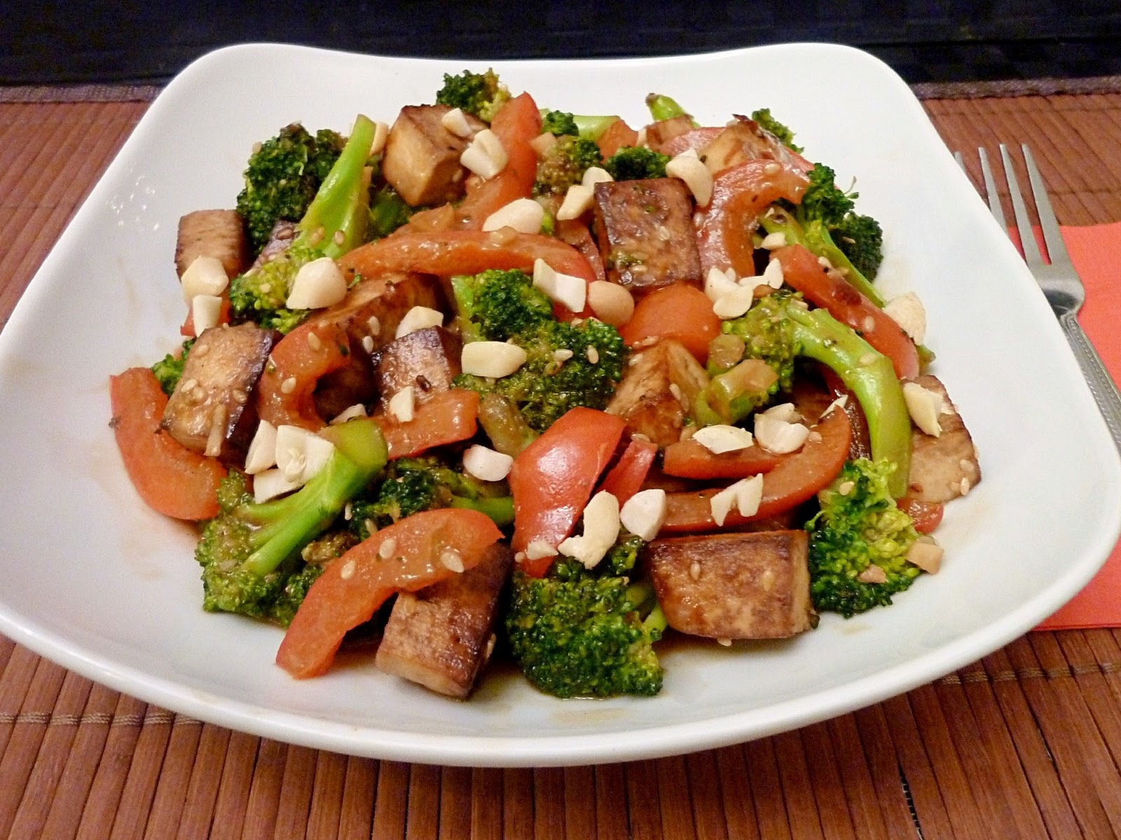Vanilla & Spice: Broccoli Tofu Stir-Fry with Peanuts