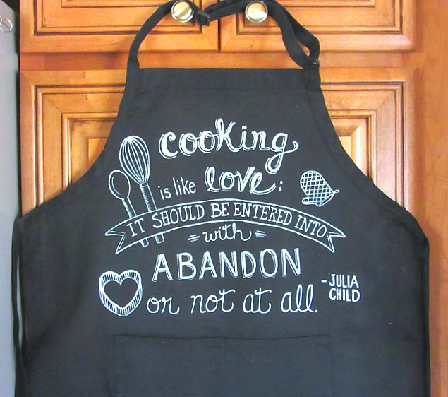 Julia Child Hand Painted Chef's Apron