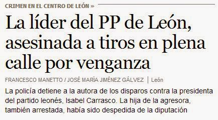 La líder del PP de León, asesinada a tiros