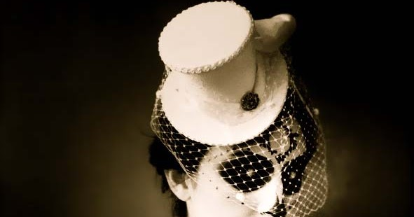 Twobackflats costume bridal mini top hat birdcage veil for A second glance salon