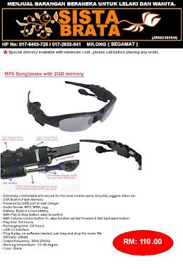 Mp3 Sunglasses RM110 (STOK BARU)