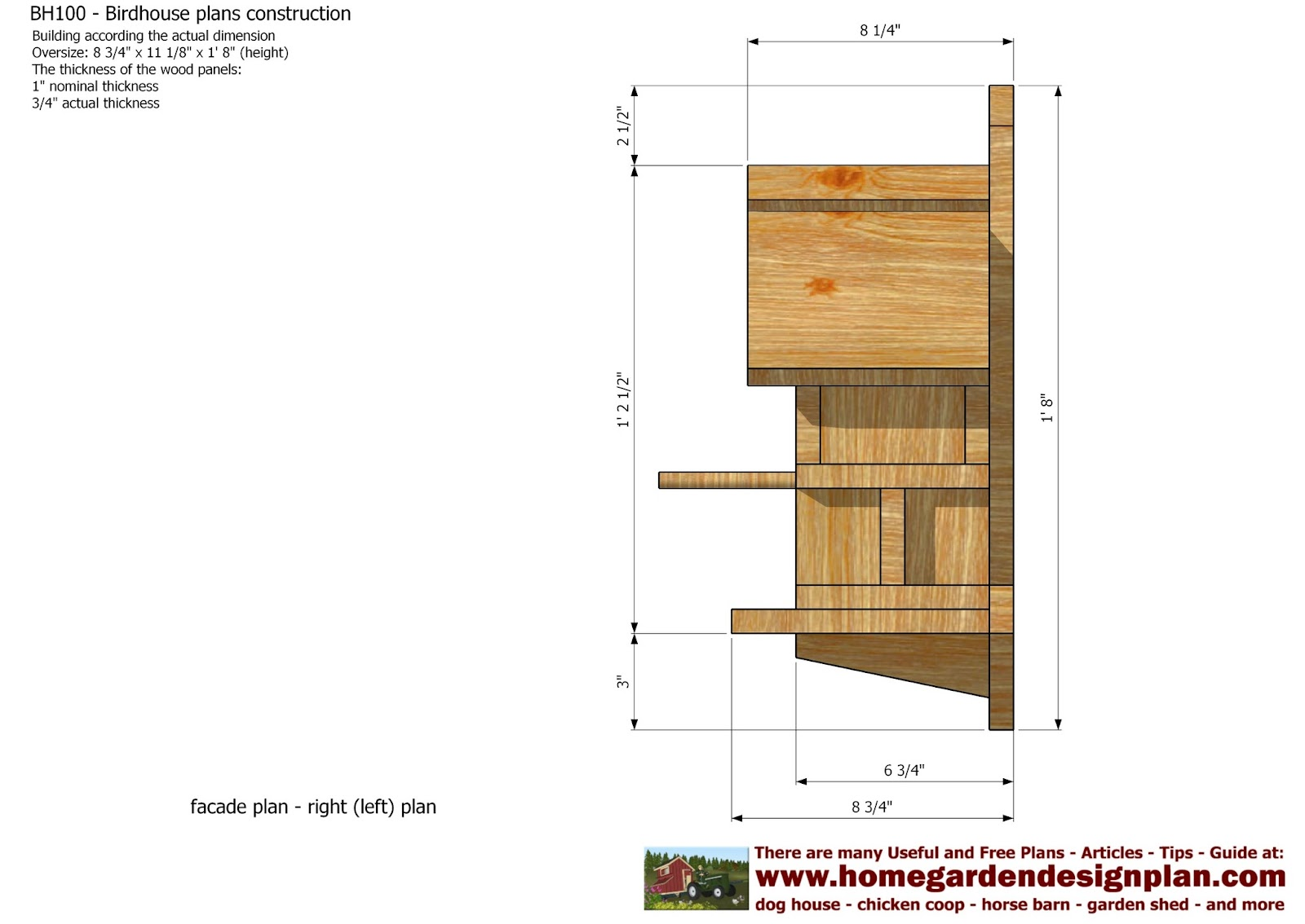 Build a coop blog bh100 bird house plans construction for Building a house blog