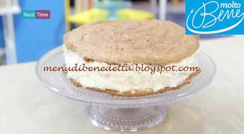 Torta biscotto pere e ricotta ricetta Benedetta Parodi per Molto Bene