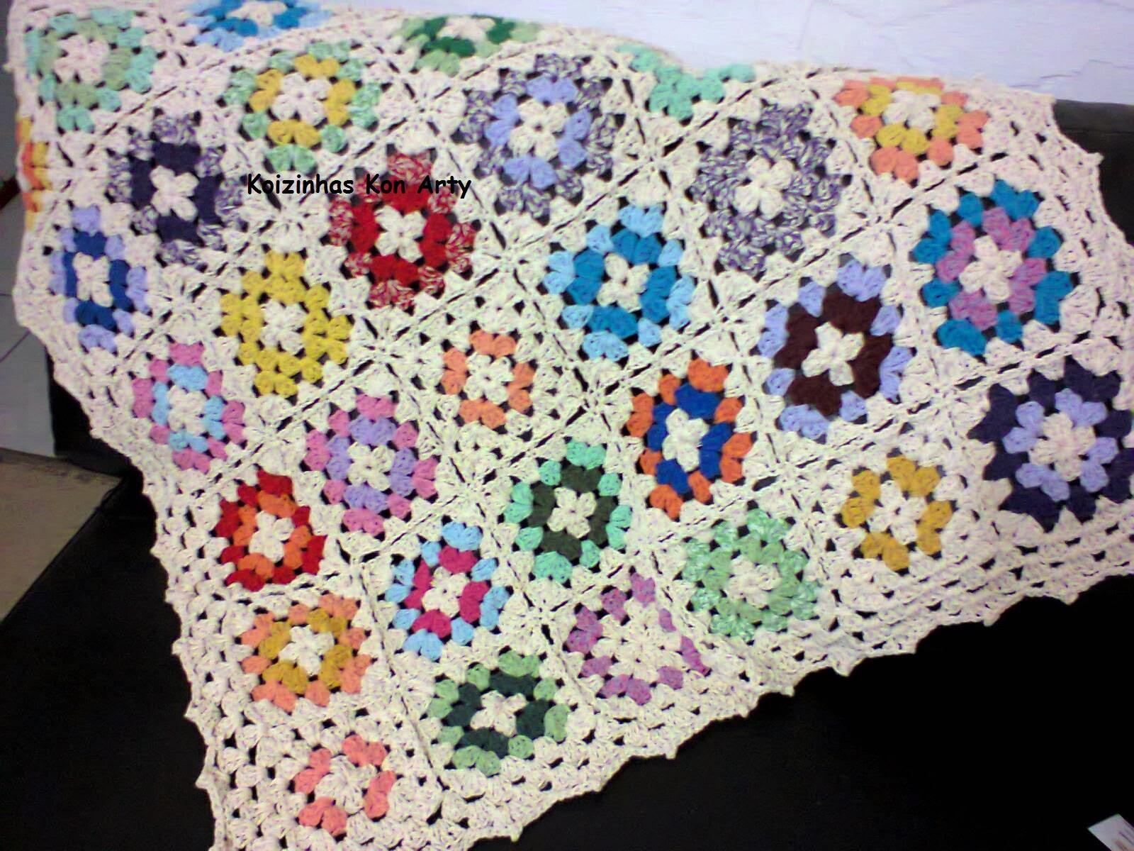Koizinhas kon arty croch artesanato manta de sof - Manta de sofa ...