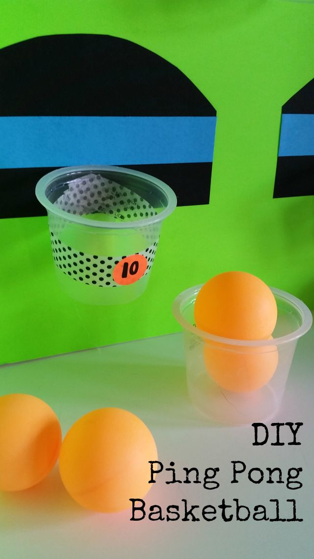 504 main by holly lefevre diy ping pong basketball game for Basketball craft party ideas