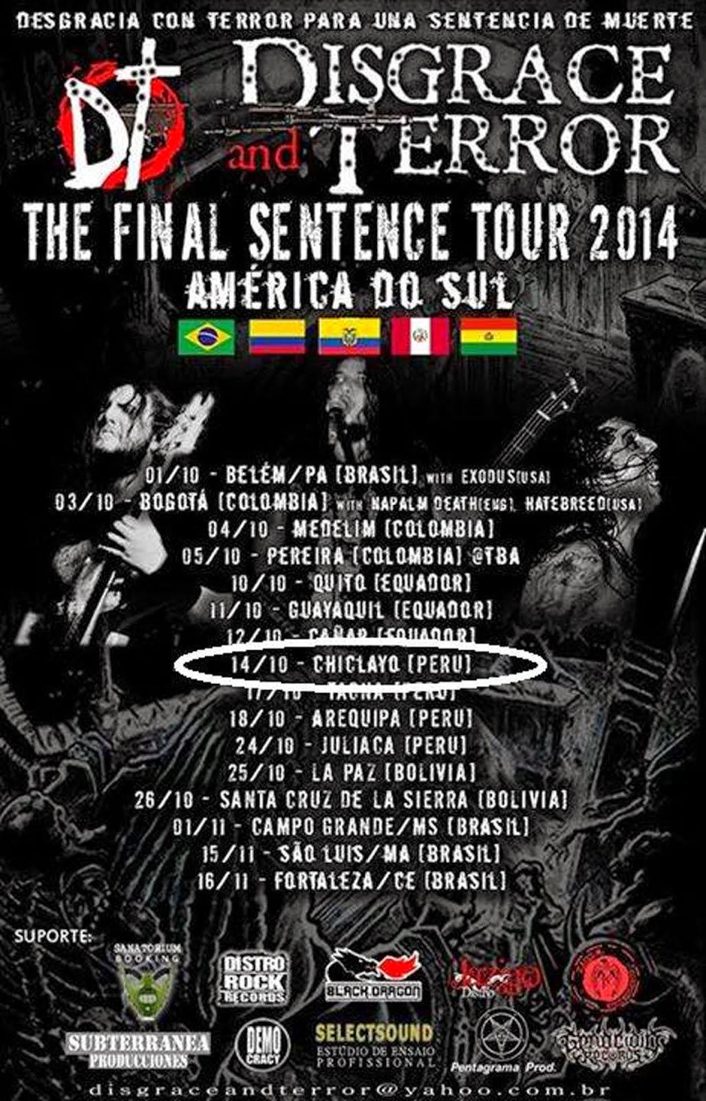 THE FINAL SENTENCE TOUR 2014