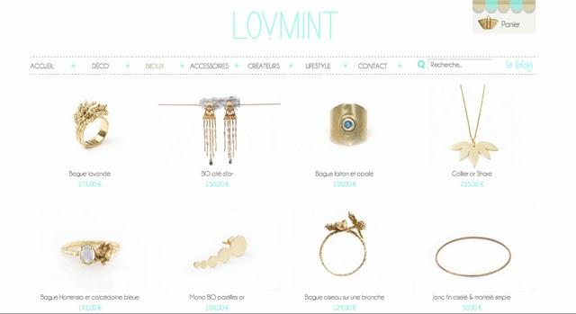 lovmint, bijoux createurs