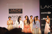 Actress Lisa Haydon Ramp Walk For JADE At LFW Summer Resort 2014