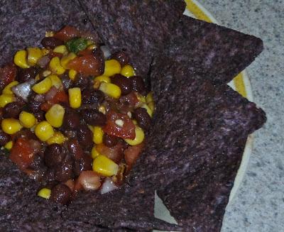 Smokey Black bean salsa, black bean corn salsa, bean dip, vegan dip, oil free dip, gluten free dip, gluten free salsa, oil free salsa