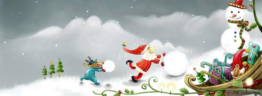Facebook covers snowman timeline