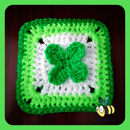 crochet shamrock granny square