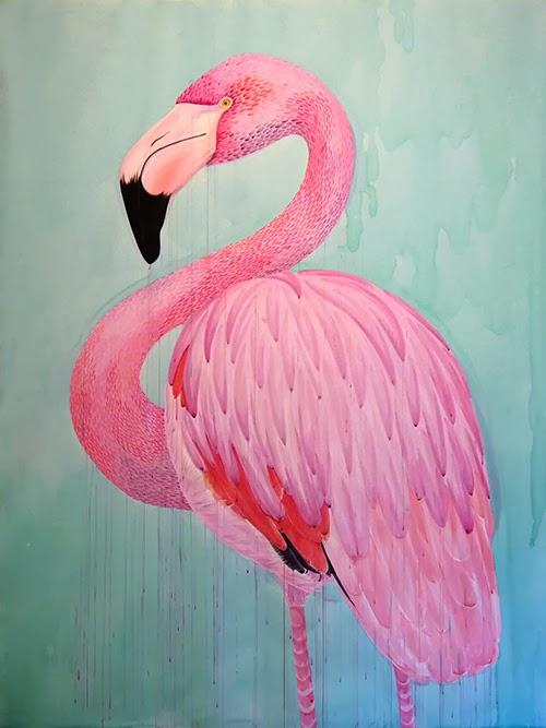 Abi heyneke 39 s blog watercolour flamingo for Flamingo feather paint