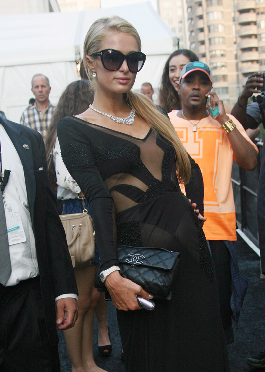 Paris Hilton Chanel Quilted Clutch