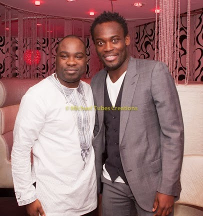 Emmanuel Adebayor, Kolo Toure, Michael Essien and More At OK! Nigeria Magazine Christmas Party